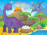 Image with dinosaur thematics 2