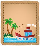 Parchment with nautical boat theme 2