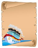 Parchment with nautical ship theme 1