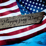 text happy flag day and flag of the United States