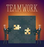 Vector Flat Business Concept Teamwork