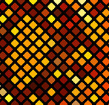 Bright orange mosaic