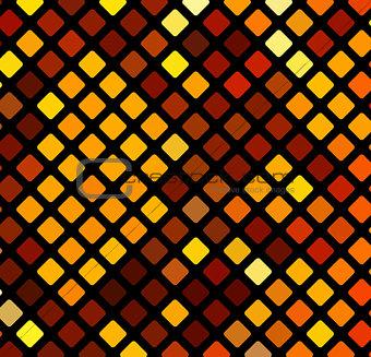 Bright orange mosaic