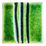 Handmade glazed ceramic tile