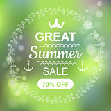 Great Summer Sale Banner.