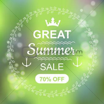 Great Summer Sale Banner.