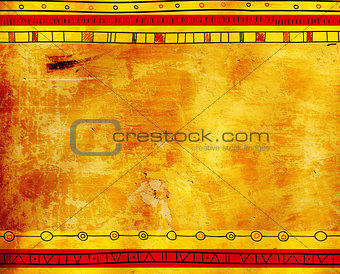 Background texture of old stucco and ethnicity patterns