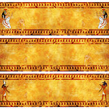 Set of grunge banner with Egyptian gods images