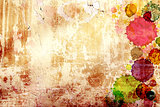 Texture old stucco wall with stains of paint