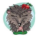 art animals. Hedgehog