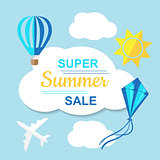 Super Summer Sale Banner.