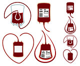 World Blood Donor Day. Set icons