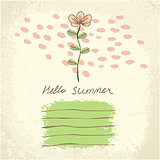 Vector cute floral card.