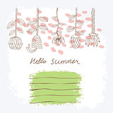 Vector Hand drawn floral background