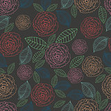 Vector doodle floral seamless pattern