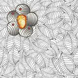 Vector zentangle seamless pattern
