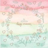Vector creative floral universal card.