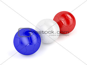 Football balls with flag of France