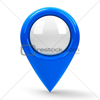 Blue map pointer blank