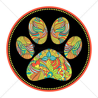 abstract animal paw print