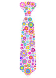 floral tie on white background