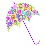 floral umbrella on white background