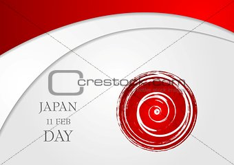 Bright wavy abstract background. Japan Day