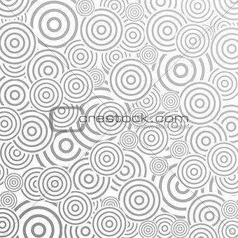 Grey abstract pattern design with rings