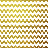 Gold glitter wavy stripes abstract vector background