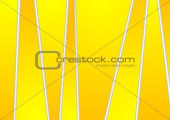 Bright yellow orange tech corporate stripes design