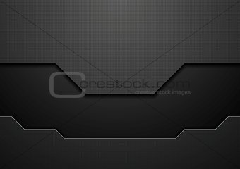 Abstract black technology concept vector design