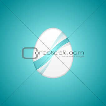 Abstract Easter background with bright waves
