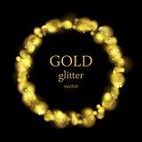 Glow luxury shiny golden ring vector design