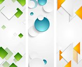 Bright tech geometric vertical banners