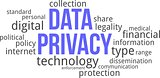 word coud - data privacy