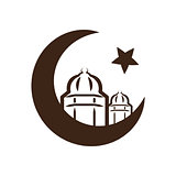 Star and crescent - symbol of Islam