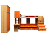 3D rendering of furniture for child
