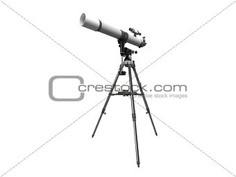 3D rendering of a telescope