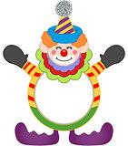Adorable happy clown frame