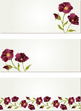 Nature banners with flower