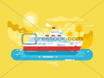 Cruise ship design flat
