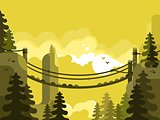 Suspension bridge design flat