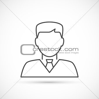 Businessman avatar thin line icon