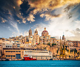view on Senglea fort in Malta