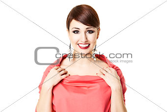Attractive Woman Smiliing