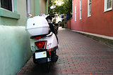 Moped in Alley