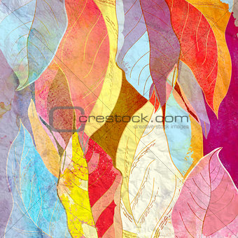 Abstract background autumn leaves