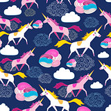 Seamless pattern Unicorns