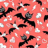 Seamless beautiful pattern bats