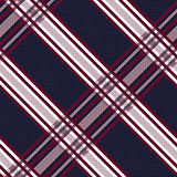 Seamless diagonal pattern in blue, grey and red
